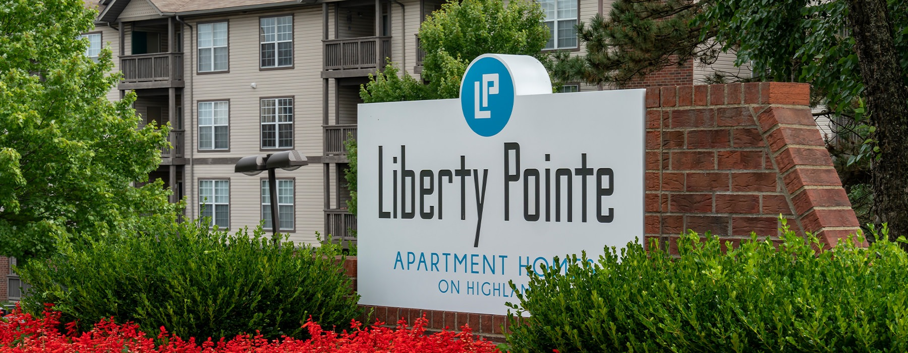 Liberty Pointe apartment entrance